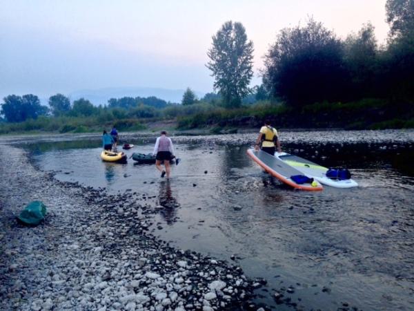Dragging boats